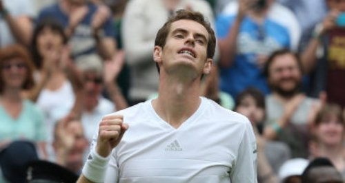 Andy Murray celebrates victory over David Goffin