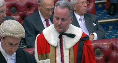 Jack McConnell takes his seat in House of Lords