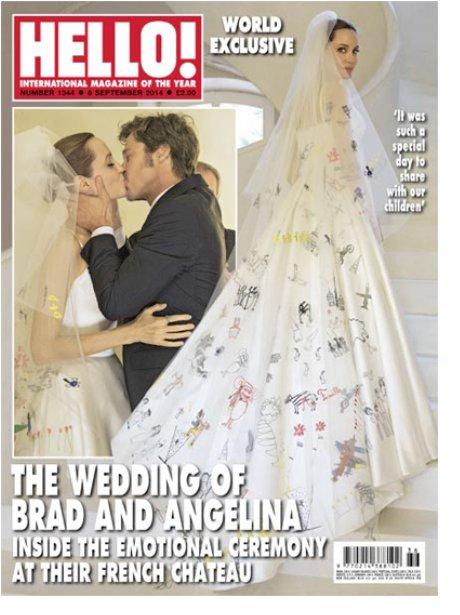 Brad Pitt and Angelina Jolie Wedding in Hello Maga
