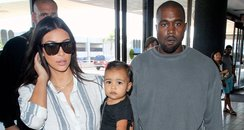 Kim Kardashian, Kanye and North West