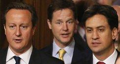 Cameron Clegg & Miliband