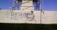 Southend Cenotaph - Graffiti
