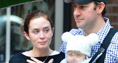 Emily Blunt with Family and make up free