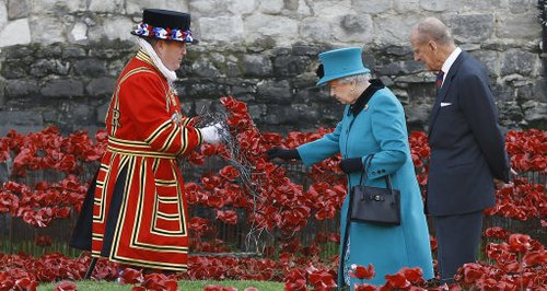 The Queen at the Tower of London