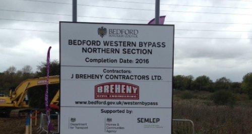 Bedford Bypass Work Starts