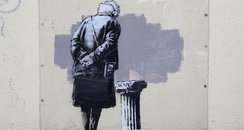 Banksy's Art Buff in Folkestone