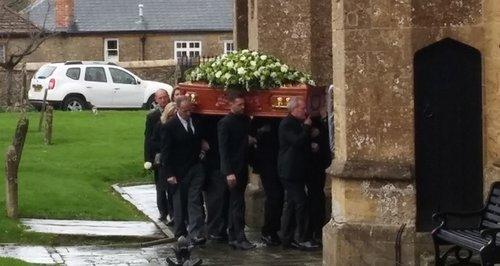 Lynda Bellingham funeral in Crewkerne