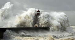 storm sea lighthouse