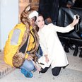 Angelina Jolie with fan taking a selfie