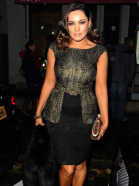 Kelly Brook with a tan in London