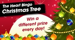 Heart Bingo christmas tree