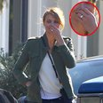 Cameron Diaz wears engagement ring