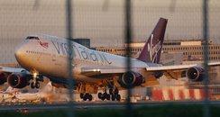 Virgin VS43 lands at gGatwick