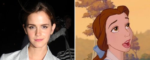 Emma Watson & Belle From 'Beauty & The Beast'