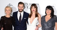 Sam Taylor-Johnson, Jamie Dornan, Dakota Johnson a