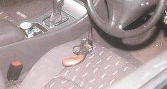 Picture of gun in a car