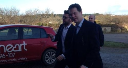 Nick Clegg at Heart Cornwall St Agnes