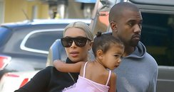 Kim and Kanye West with North