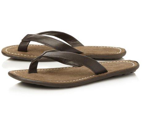 Dune Leather Toe Post Casual Sandal, £35
