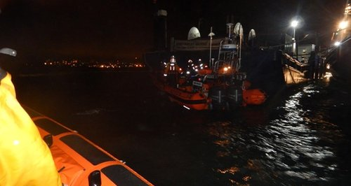 Fawley tub boat capsized rescue Southampton Water