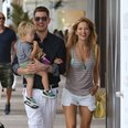 Michael Buble and Luisana Lopilato with Son