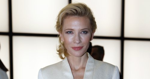 Cate Blanchett in a white jacket