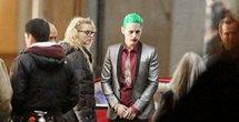 Jared Leto dressed as the joker