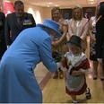 little girl meeting queen
