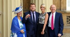 James Corden receives OBE