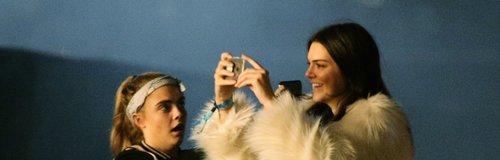 Cara Delevingne and Kendall Jenner at Glastonbury