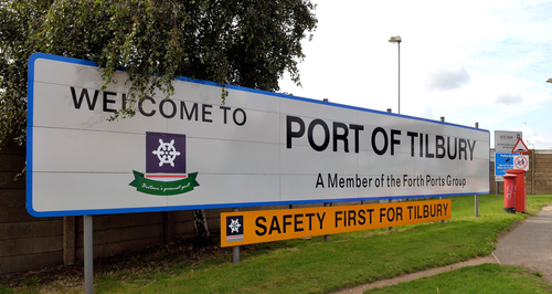 Tilbury Port Sign
