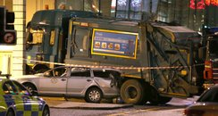 Bin Lorry crash Glasgow