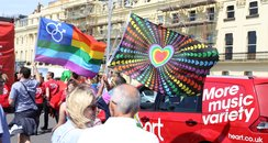 Heart at Brighton Pride