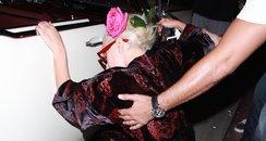 Lady Gaga falling over