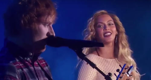 Beyonce and Ed Sheeran duet