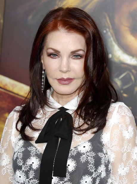 Priscilla Presley with red hair