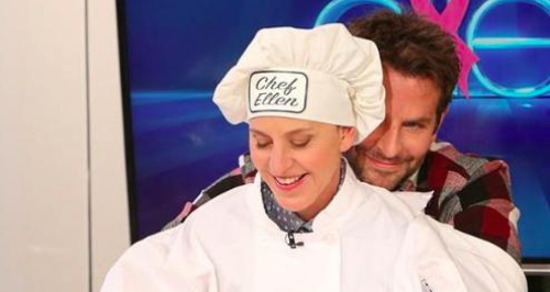 Bradley Cooper and Ellen DeGeneres