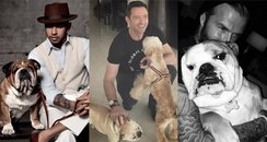 Man's Best Friend: Celebrity Men and Dogs Canvas