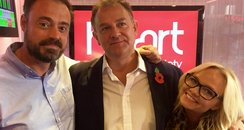 Hugh Bonneville with Jamie and Emma