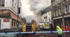 Fire in Newcastle City Centre