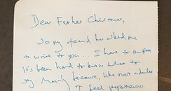 Benedict Cumberbatch Letter