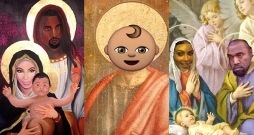 Saint West Meme Canvas