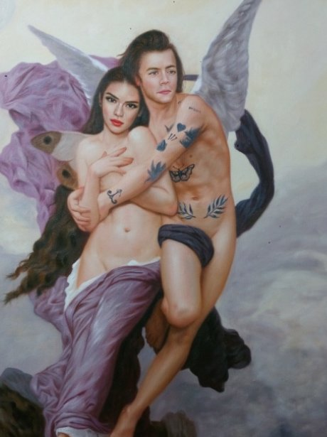 Harry Styles and Kendall Jenner Classic Art