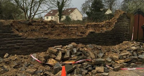 Wall Collapsed On Children Worcestershire