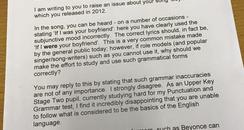 Letter sent to Bieber