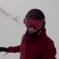 Kelly Murphy snowboarding in japan