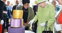 Queen Elizabeth II with Nadiya Hussain