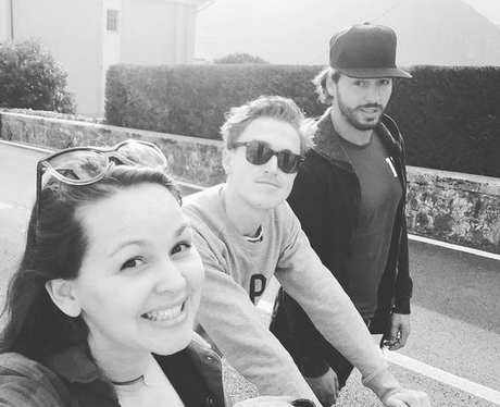 Giovanna Fletcher and Tom Fletcher on holiday in I
