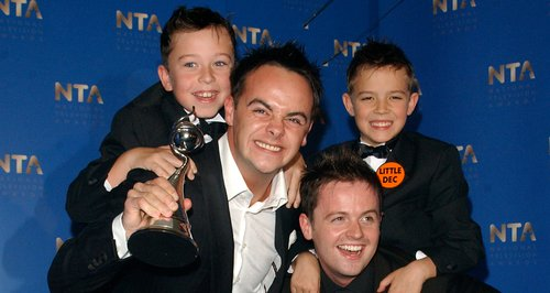 Ant and Dec with Little Ant and Dec