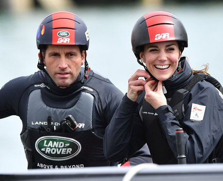 Duchess of Cambridge and Ben Ainslie in Portsmouth